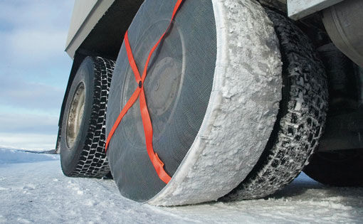 Snow tires: Chains out, textile in