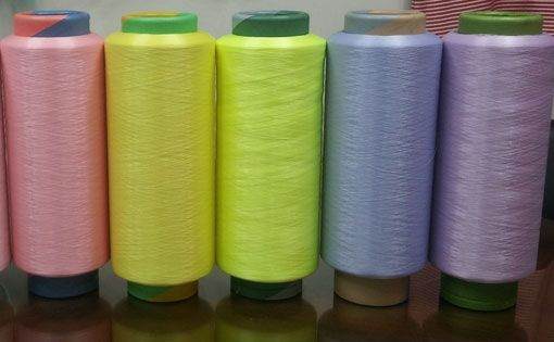 Glow yarn for special effect textiles