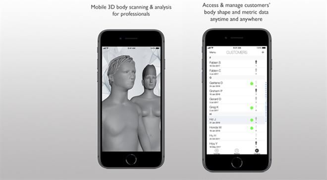 What is the global market size for 3D body scan solutions? What is the expected growth rate in the next 2-3 years?
