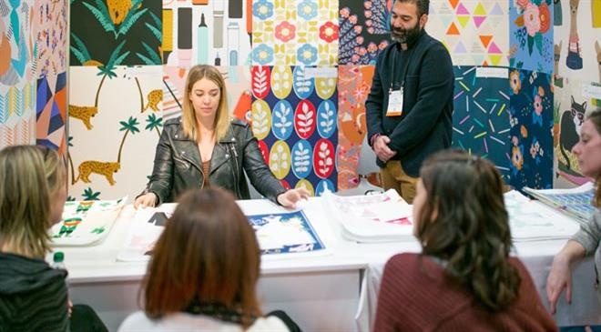 What amount of artwork/design gets licensed at Surtex?