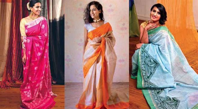 Which other traditional weaves of Andhra Pradesh are the weavers working on?