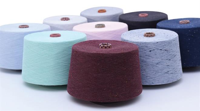 Which blended mélange yarns enjoy high demand in the domestic and export markets?