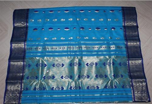 Blue Tant Saree