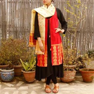 Handwoven salwar suit
