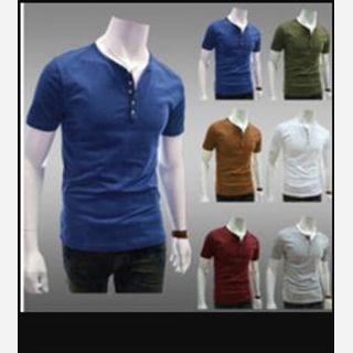 mens round collar t-shirt