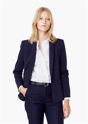women cotton blazer