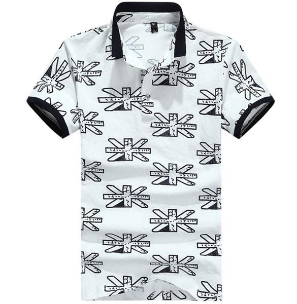men polo t-shirt with embroidery print