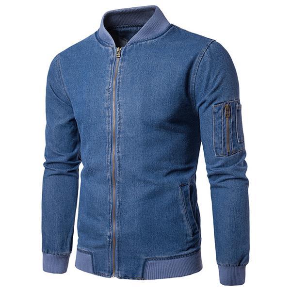 Denim Fabric Coat For Mens
