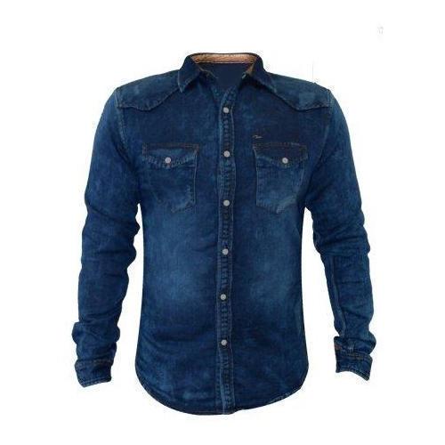 Fancy Denim Shirt For Men