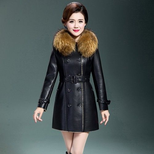 Fur Leather Coat For Women