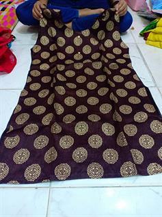Kora Silk With Center Cut Pattern Kurti