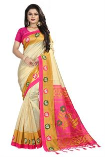 Printed Poly Cotton Sarees