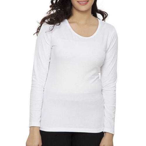 Ladies Full Sleeve Plain T-Shirt