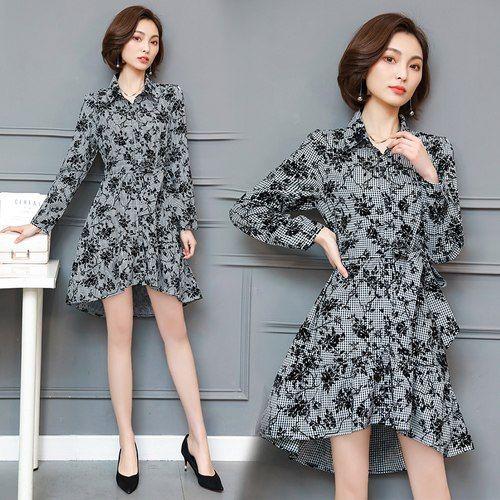 Ladies Printed Full Sleeve Dress