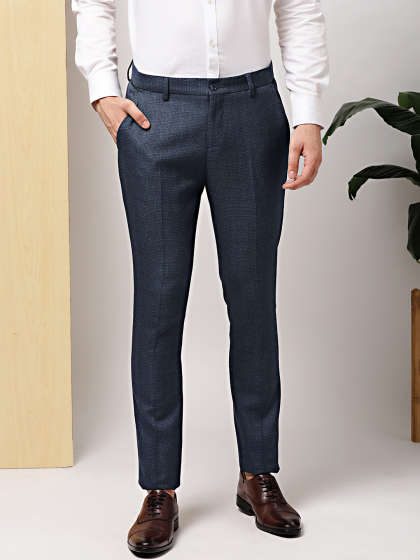 Men's Office Wear Plain Trouser