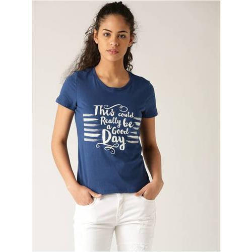 Ladies Round Neck Printed T-Shirt