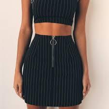 Ladies Fashion Striped Skirts