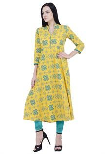 Ladies Yellow Kurtis