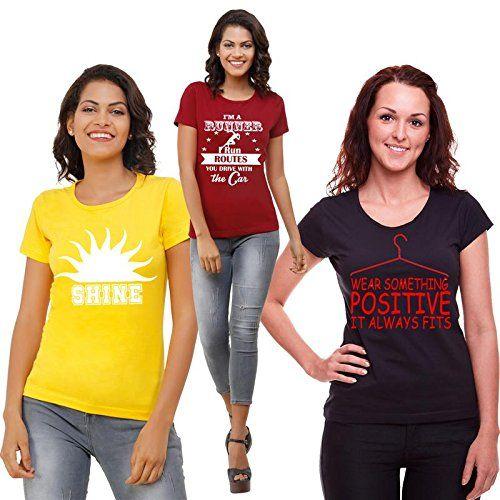 Women's Round Neck Printed T-Shirt