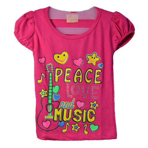 Girls Printed Cotton Tops