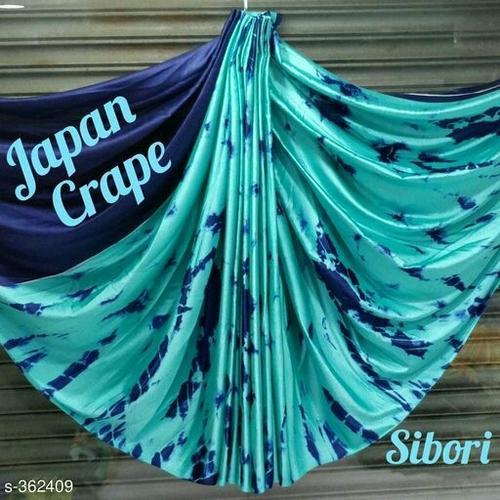 Crepe Shibori Silk Saree