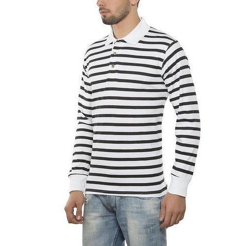 Men's Strip Polo Shirt