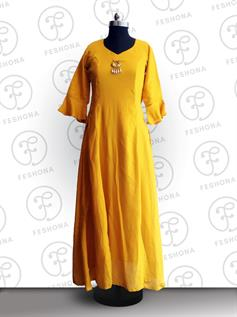 Ladies Long Rayon Kurtis