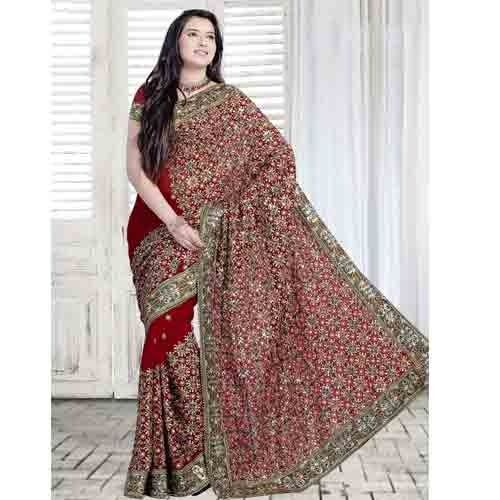 Heavy Embroidery Work Sarees