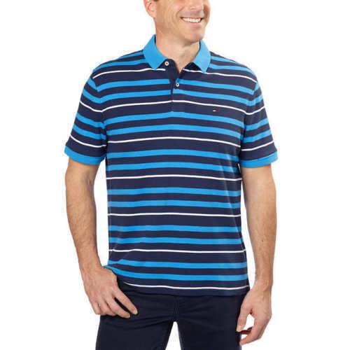 Men's Ribbed Collar Polo Shirt