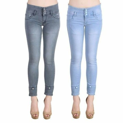 Women's High-Waist Denim Ankle Jean