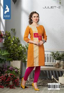 Rayon Screen Print Kurtis