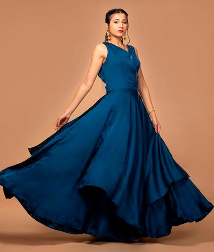 Party Wear Silk Gown