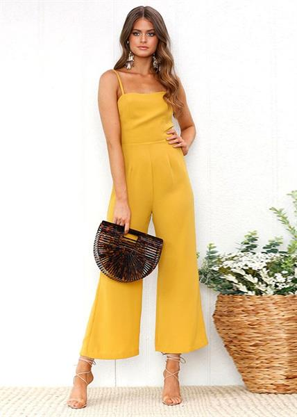 Spaghetti Straps Ladies Casual Jumpsuits