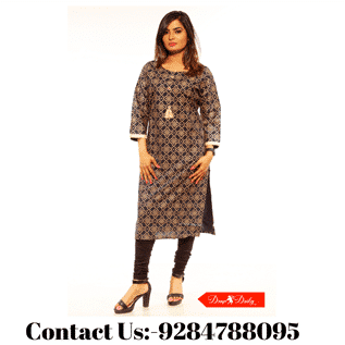 Cotton Collar Neck Kurtis
