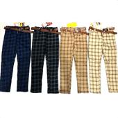 Kids Check Pants