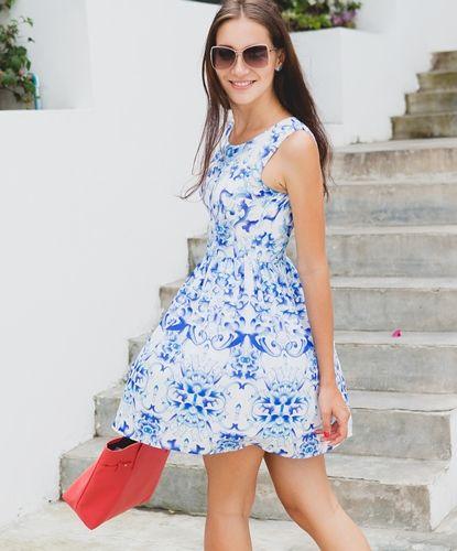 Ladies Printed Dress
