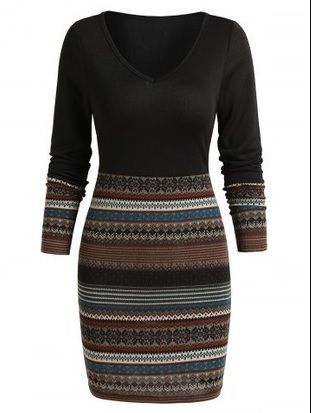 Tribal Sweater Dress