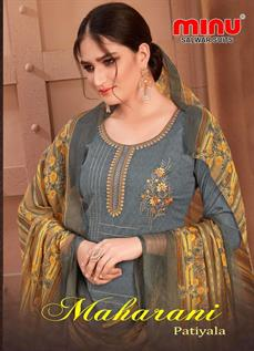 Printed with Embroidery Work Unstitched Salwar Kameez Set