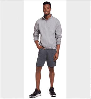Men's Grey Half Zip Sweatshirt