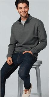 Men's Grey Half Chest Zip Sweatshirts