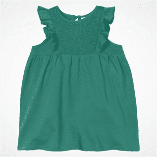 Comfortable Chest Embroidery Kids Frock
