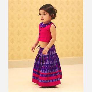 Kid's Silk Chaniya Choli Set