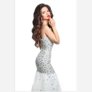 Hand Beaded Sequin Gowns