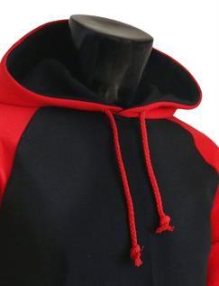 Red & Black Plain Hoodies