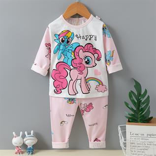 Cartoon Printed Cotton Lycra Pajama Set
