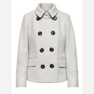Twill pea coat inspired Jacket with button