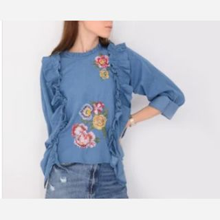 Embroidered Boho Tops