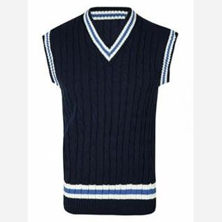 V Collar Wool Knitted Men's Sweaters