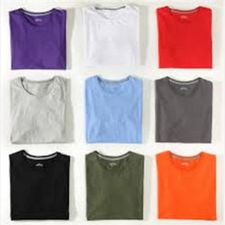 Men's Multi-Colored Solid T-shirts