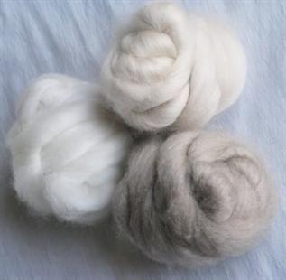 Greige, 38-40mm, 16,5micron, to make yarn